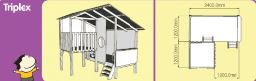 Triplex cubby house