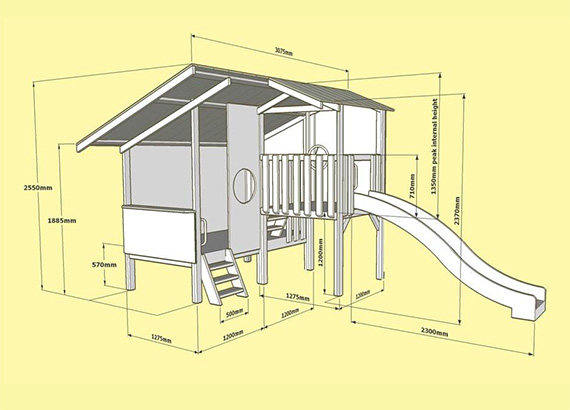 Triplex Cubby 3D Plan and Layout