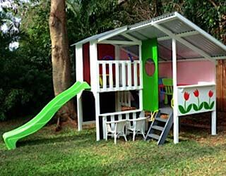 Cubby house kits kids wooden cubby houses my cubby for Buy house plans australia