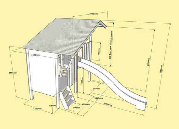 Duplex Cubby 3D Plan and Layout