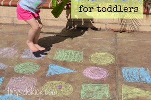 Sidewalk Chalk Game